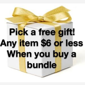 Free gift with any bundle!